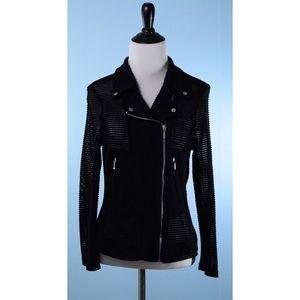 JOSEPH RIBKOFF Black Mesh jacket 6